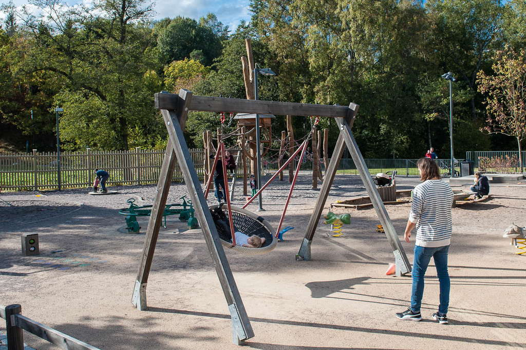 Stor och fin lekplats för barnen