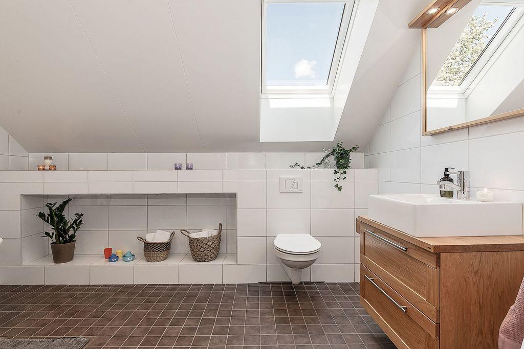 Det övre badrummet