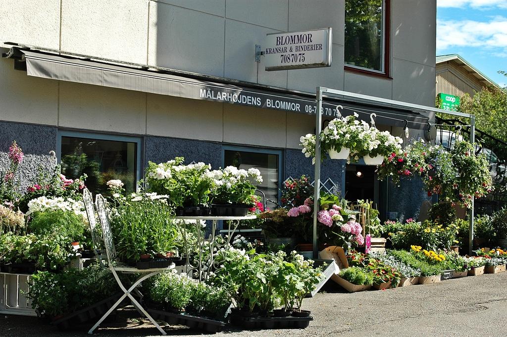 Blomsterbutik i Mälarhöjden