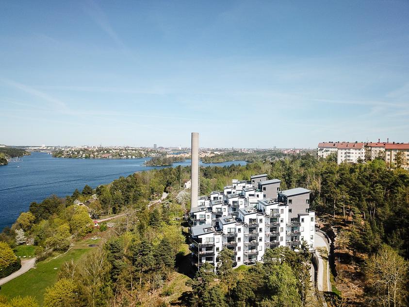 Mamsell Ullas Väg med utsikt över Stockholm