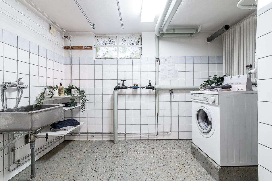 Rymlig tvättstuga