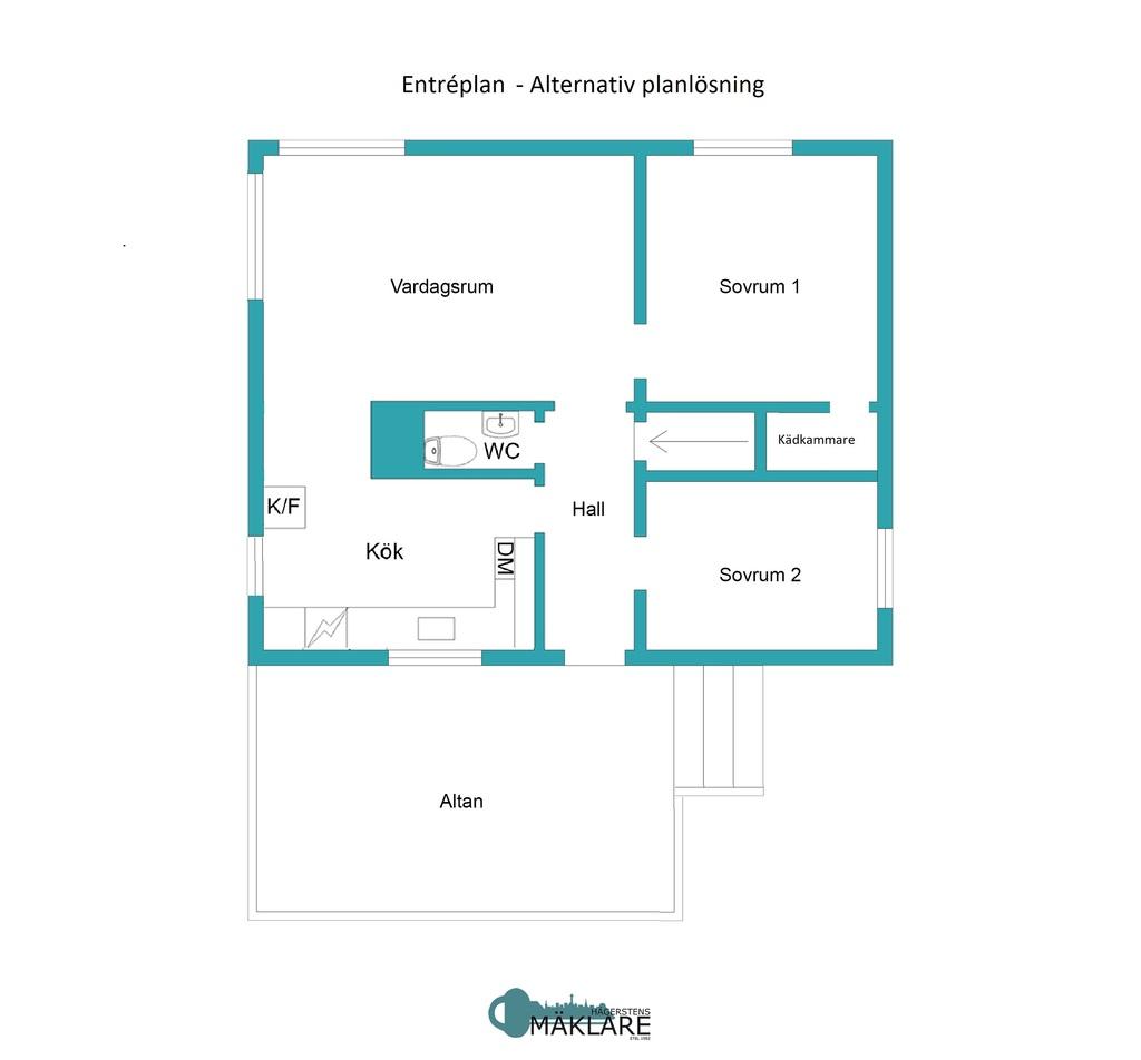 Entréplan - Alternativ planlösning