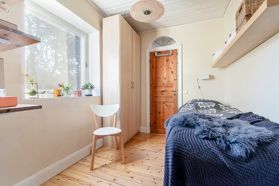 Sovrummet mellan den övre hallen och badrummet