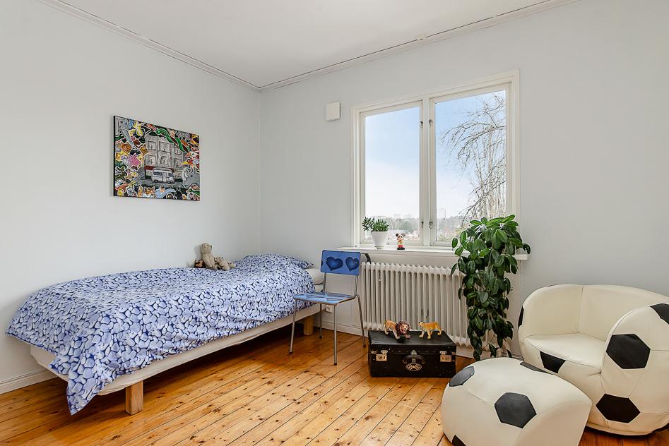 Sovrum med vacker utsikt