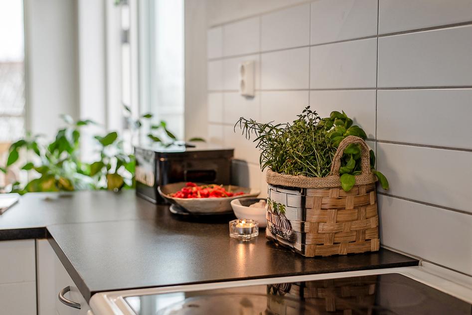 Vackert ljus i köket