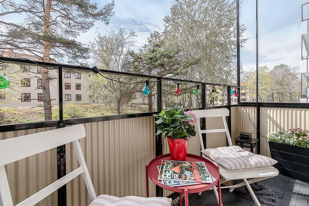 Mysig balkong utan insyn