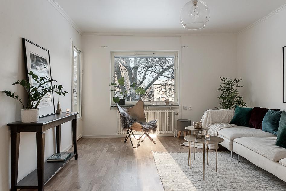 Vardagsrum med fritt läge
