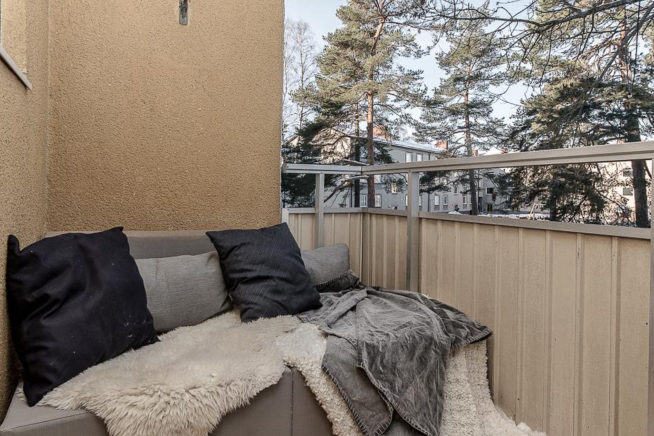 Loungedel på balkongen