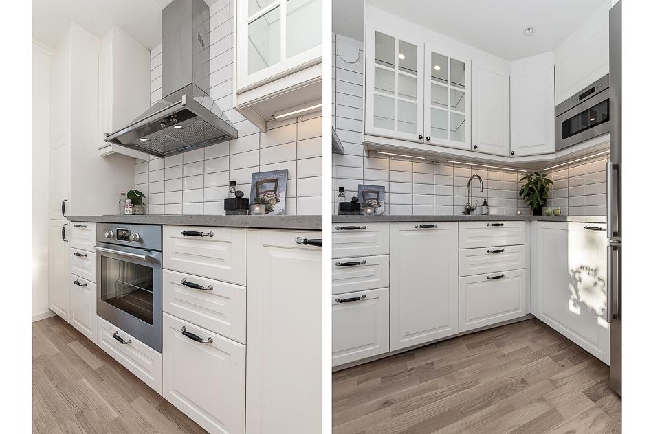 Köket sett från två vinklar