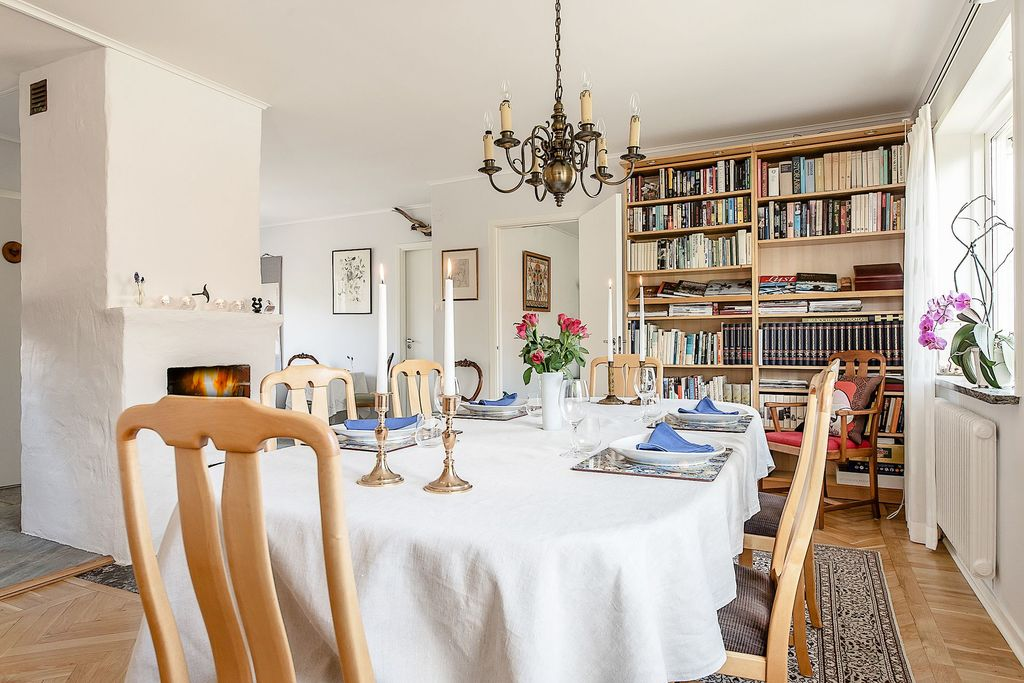 Matrum med öppen spis