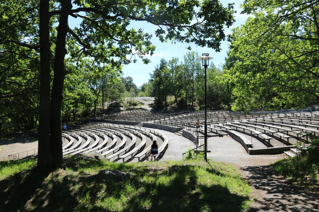 Amfiteatern där bl a Parkteatern håller till på sommaren