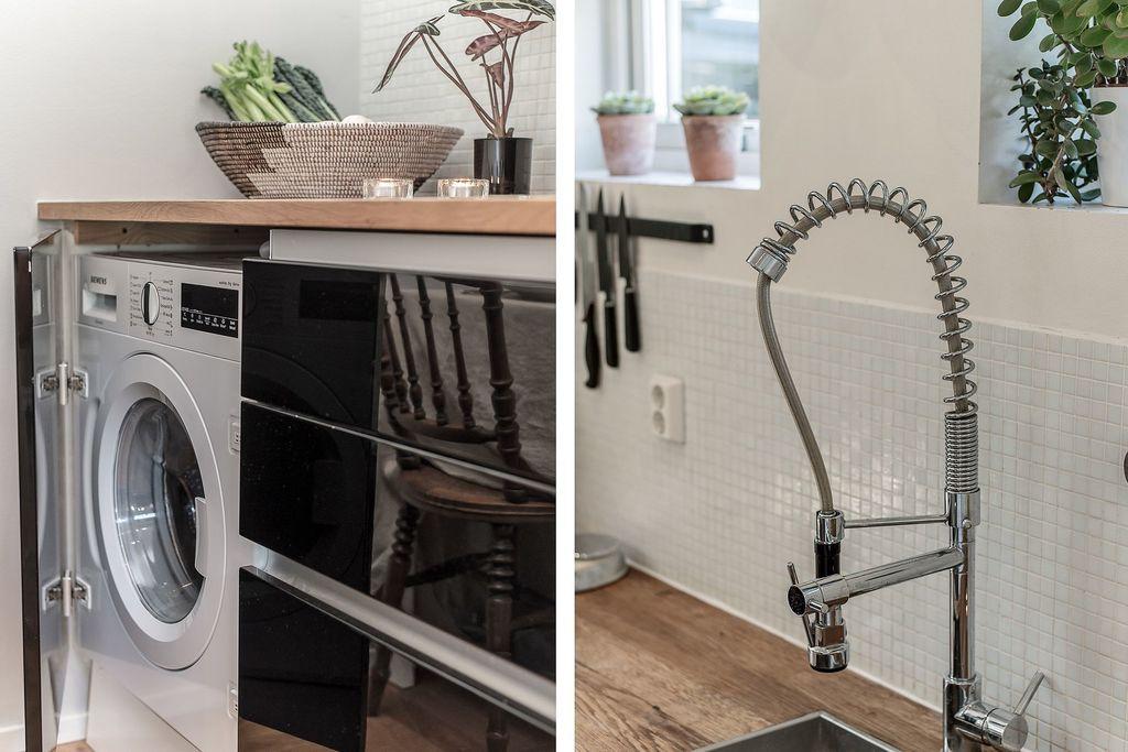 Tvättmaskin i köket