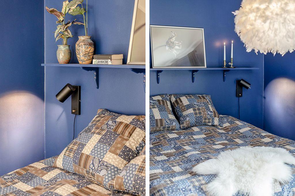 Detaljbilder i sovrummet