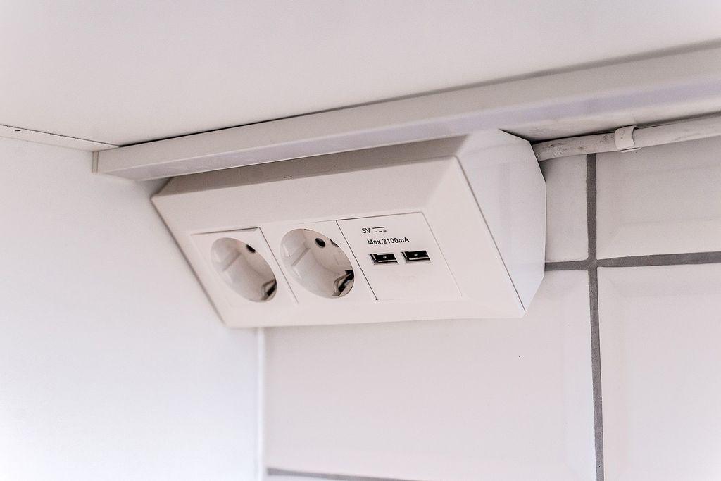 Smart lösning med USB-uttag