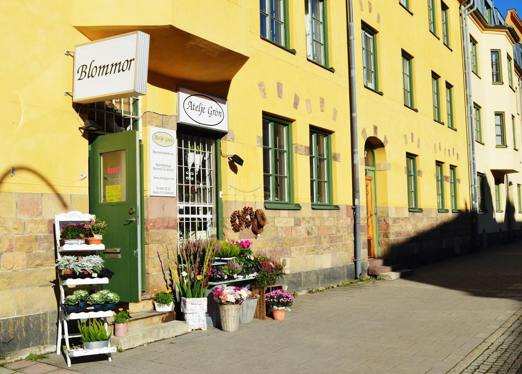Blomsterbutik på Hägerstensvägen