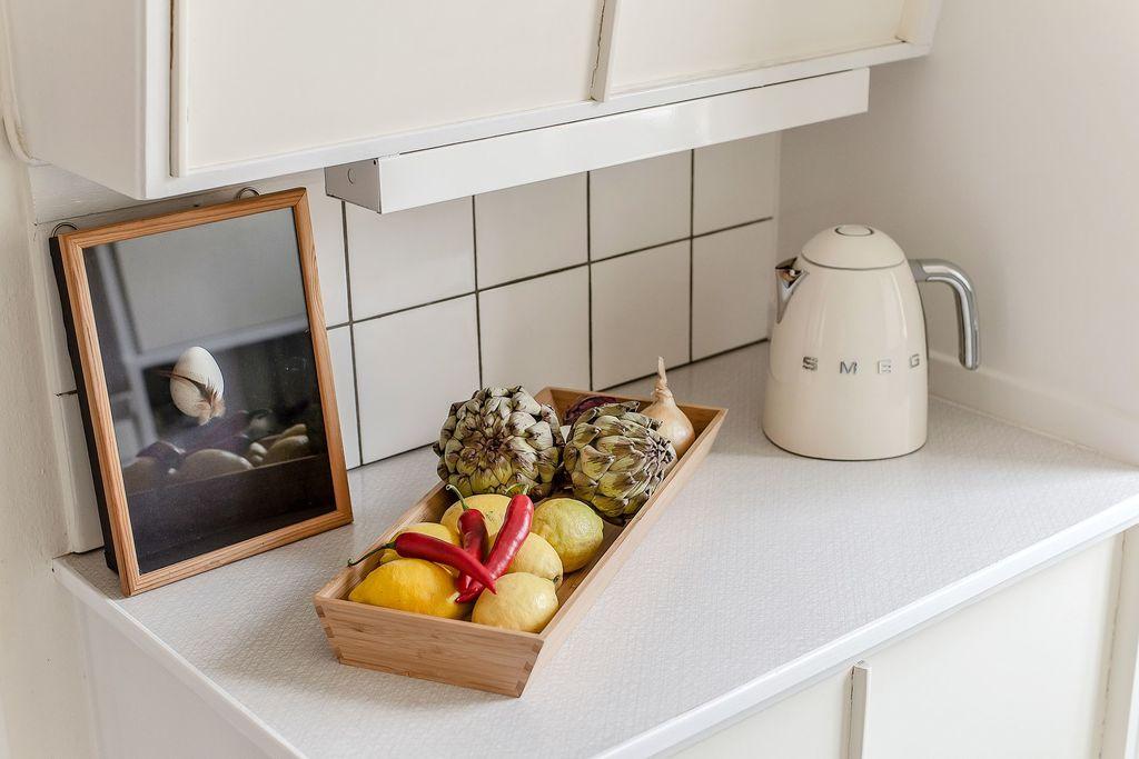 Avlastningsdelen i köket
