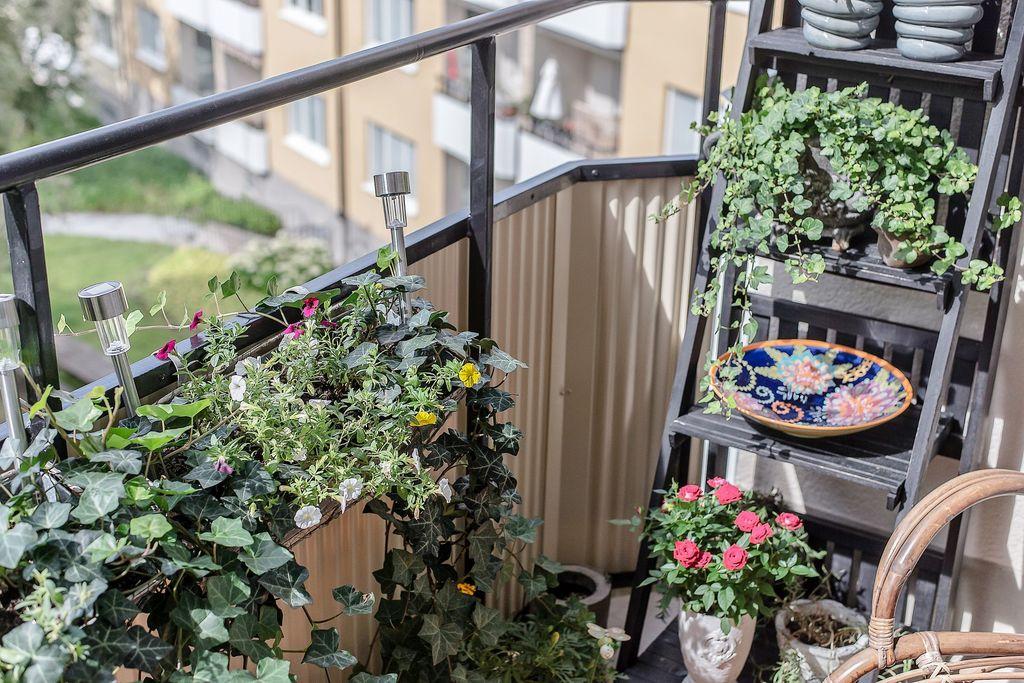 Detaljbild på balkongen