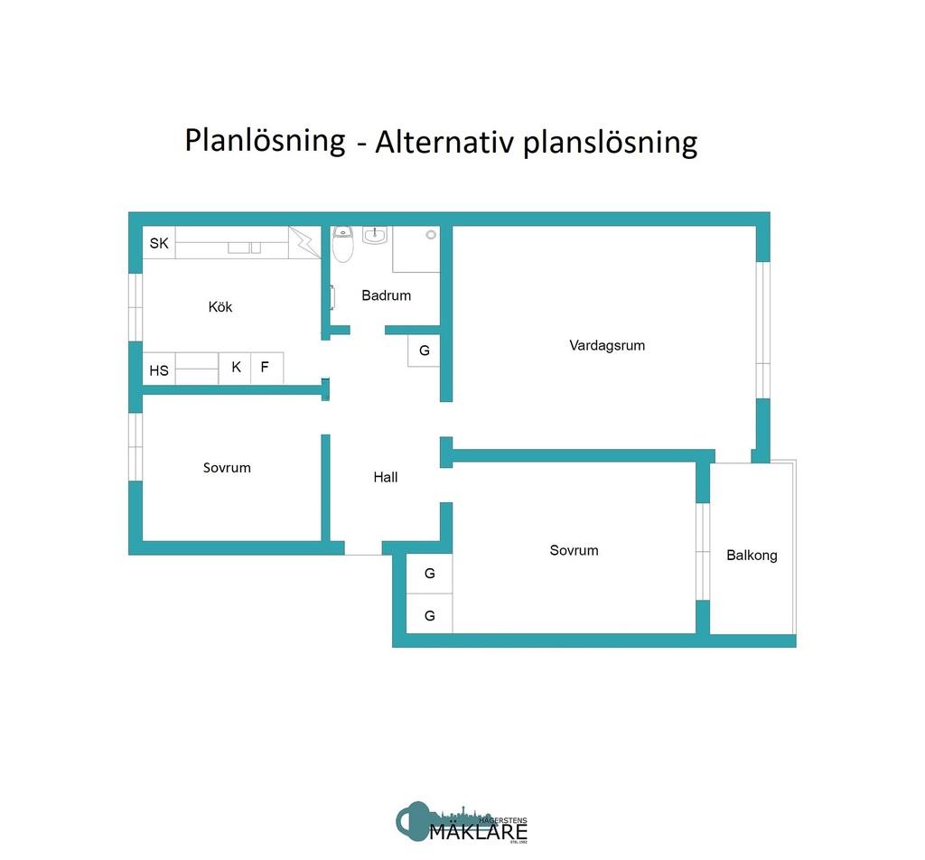 Planritning - alternativ planlösning