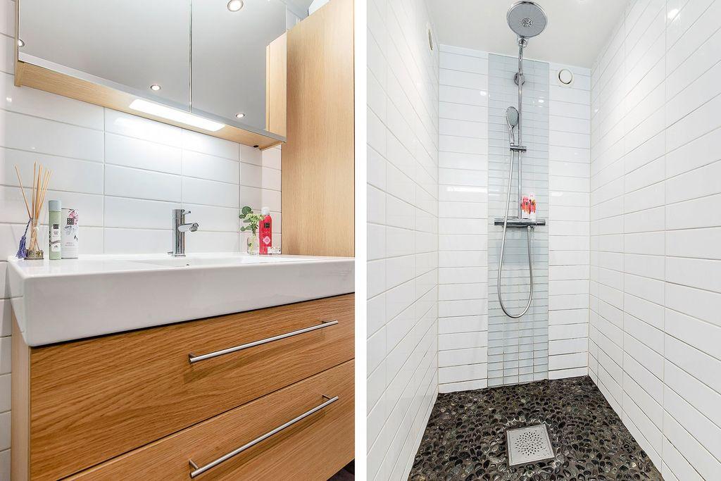 Närbilder i badrummet på källarplan