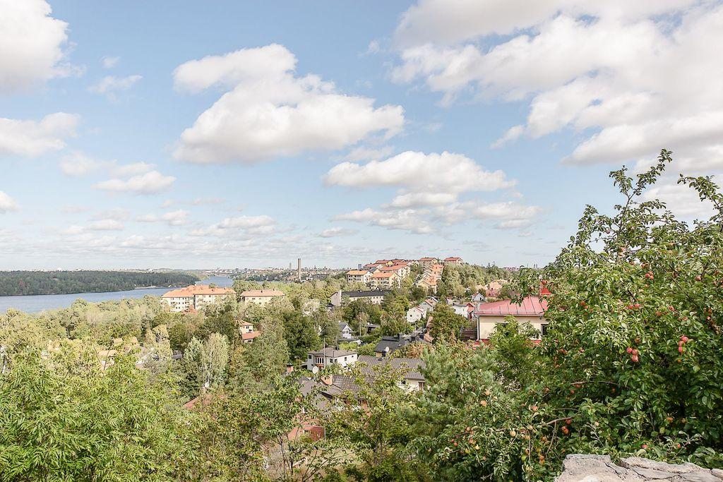 Utsikt från toppen på Edsbergsgränd