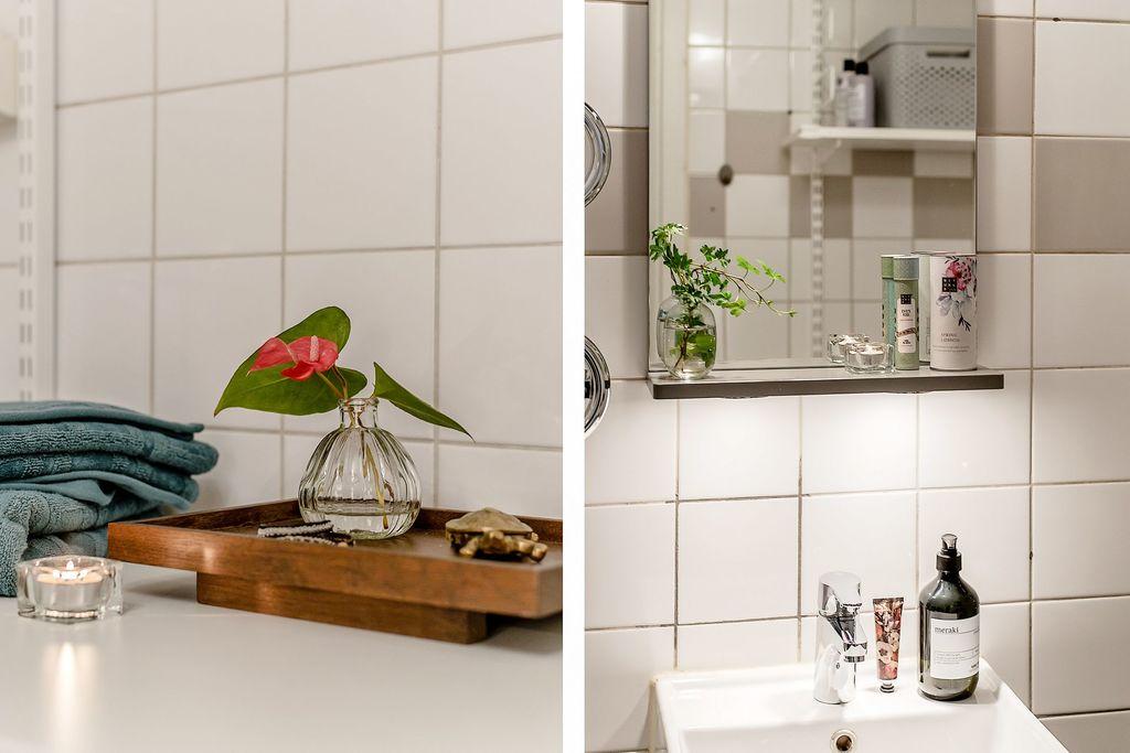 Detaljbilder i badrummet