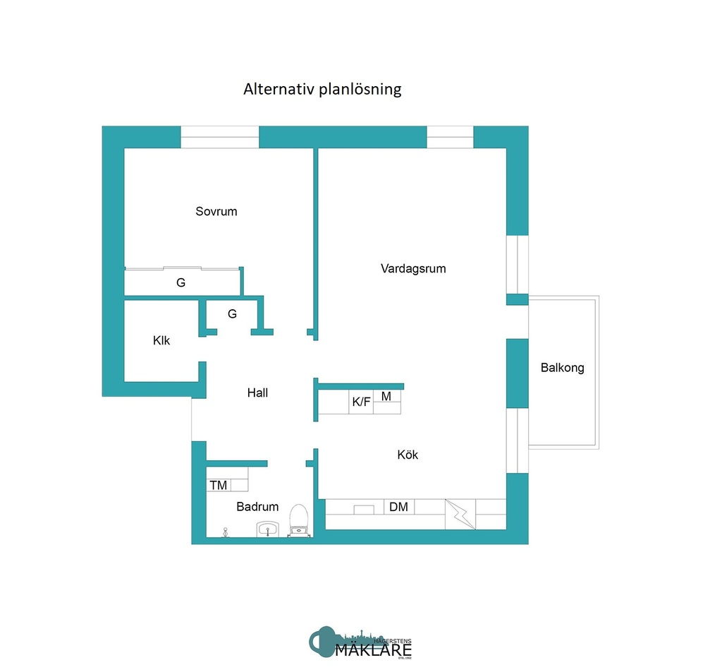 Planritning - Alternativ planritning