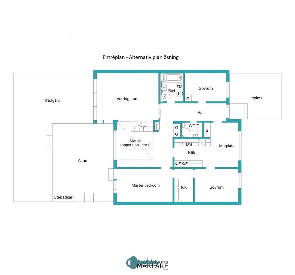 Entréplan - Alternativ planritning