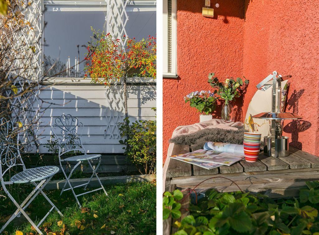 Härliga platser i trädgården