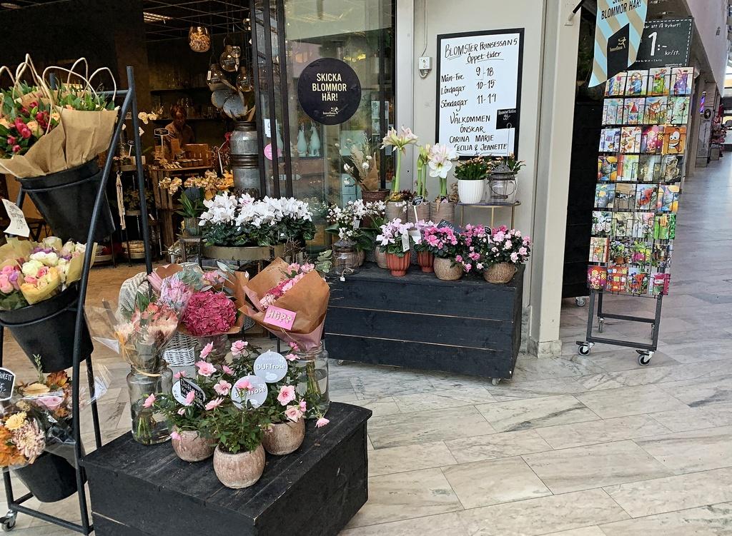 Blomsteraffären i Salem centrum