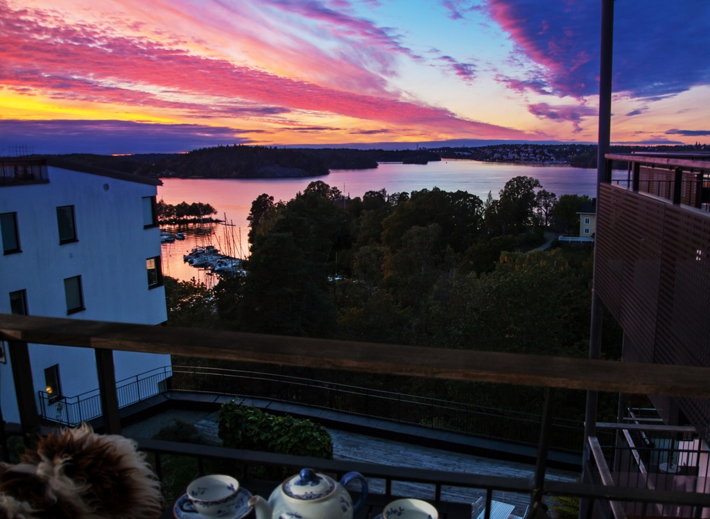 Solnedgång sedd från balkongen 2