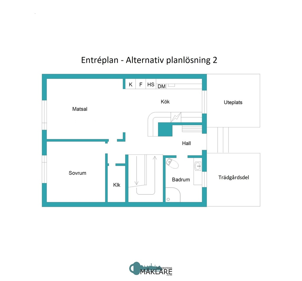 Entréplan - Alternativ planlösning 2