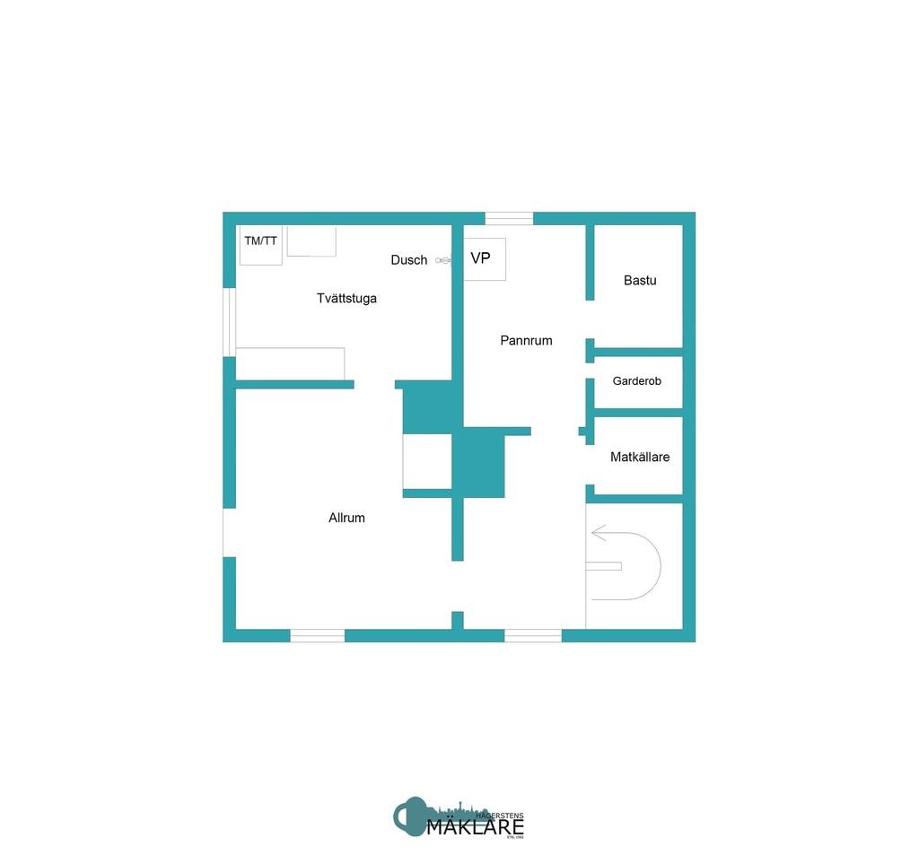 Planlösning källarplan