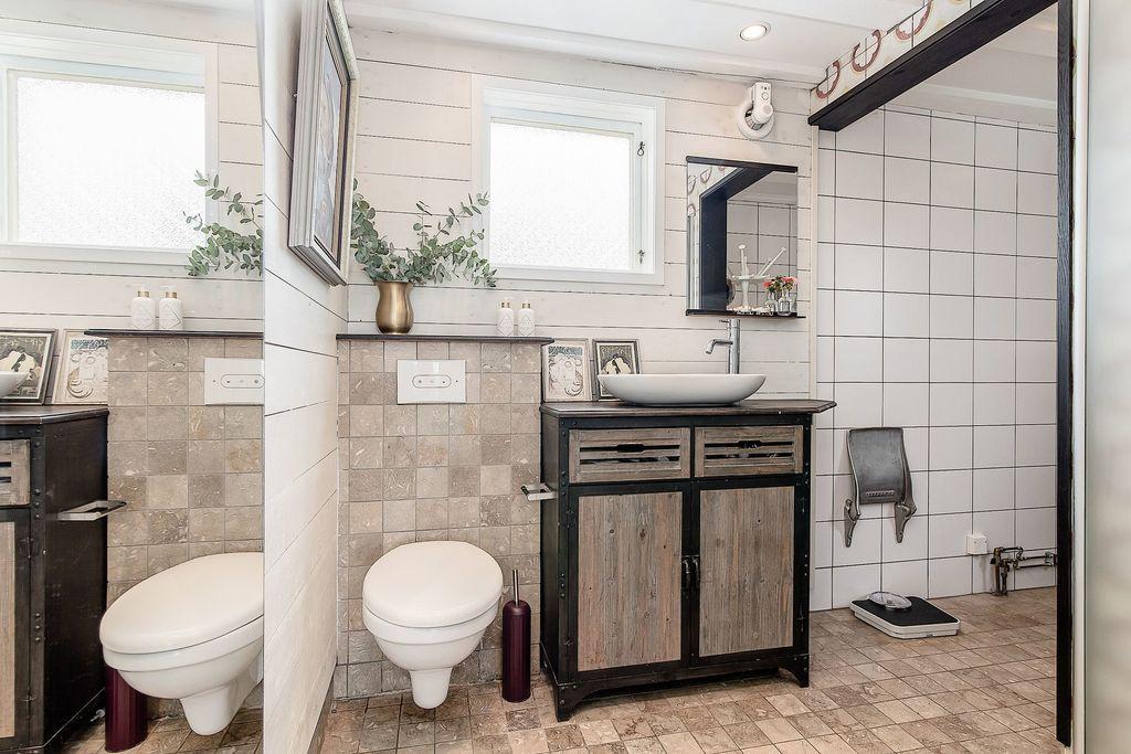 Del av badrummet