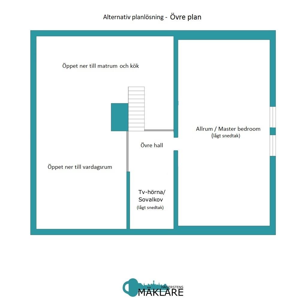 Alternativ planritning övre plan