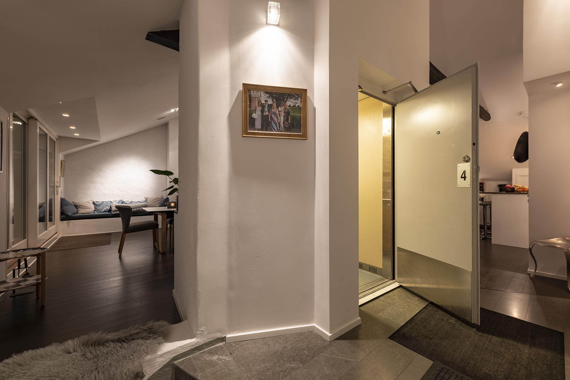 Hiss in i våningen