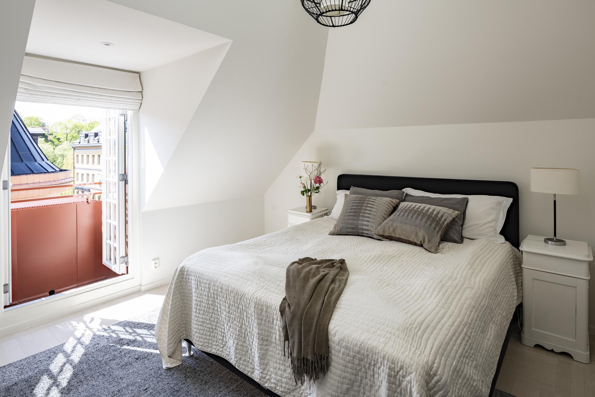 Fransk balkong i master bedroom