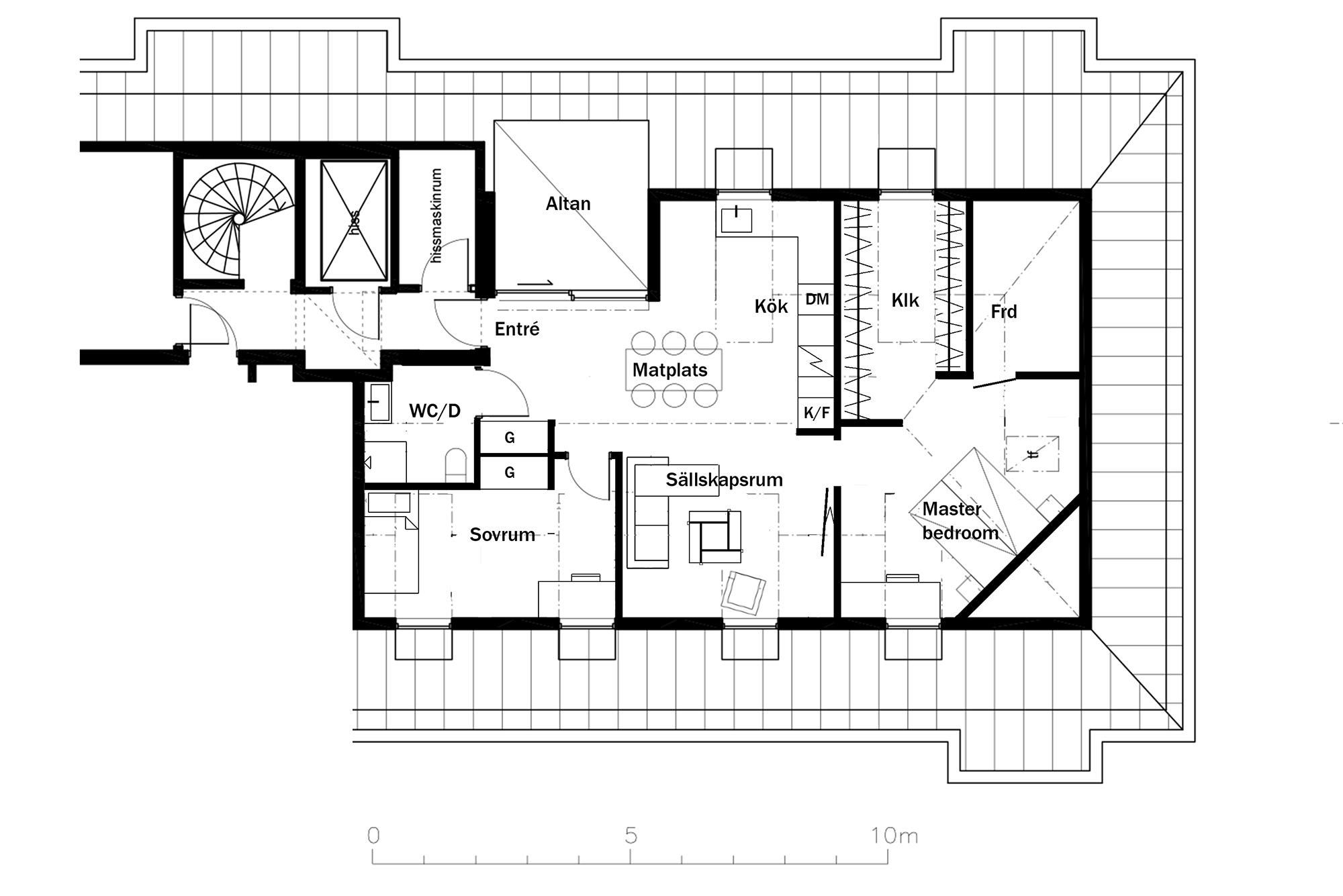 Skiss 77 kvm fasad