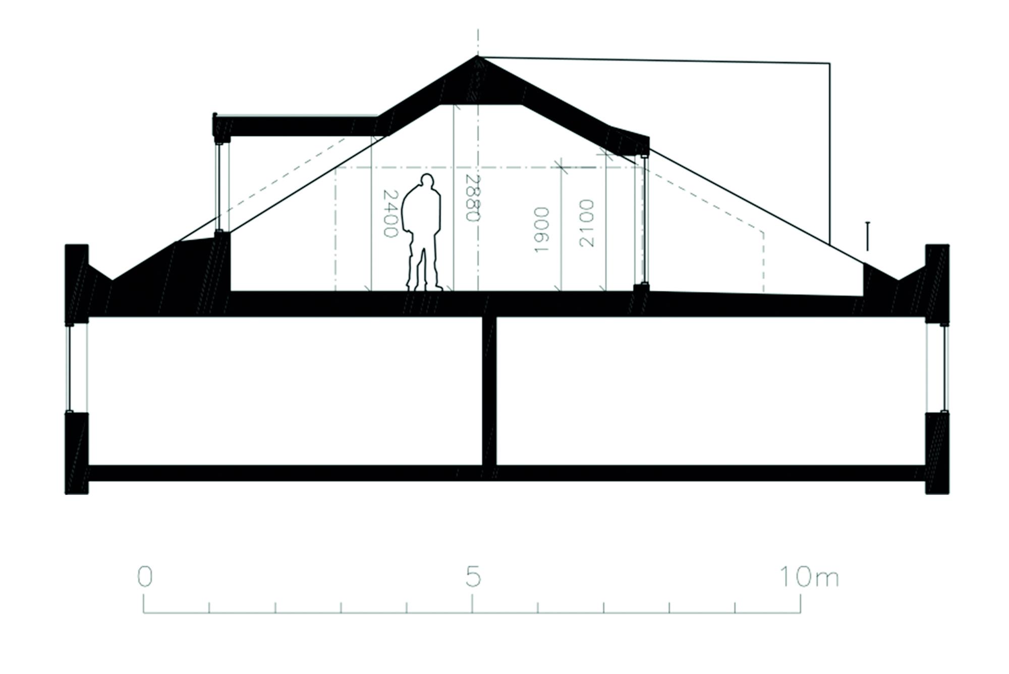 77 kvm sektion fasad