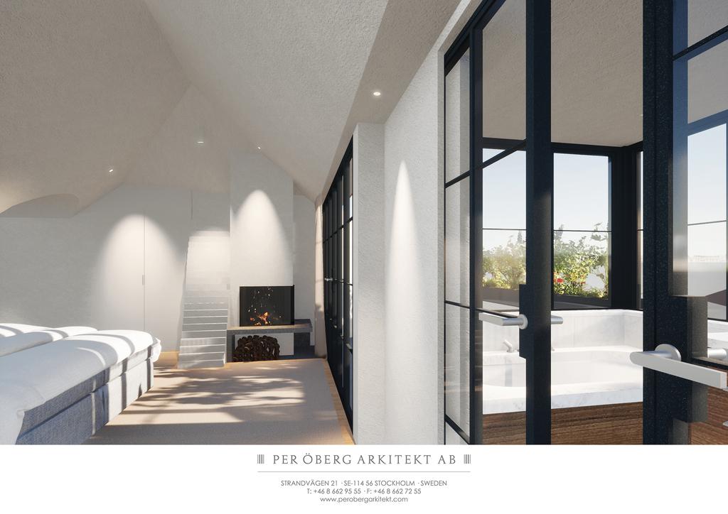 Illustration - Master bedroom med badrum en-suite