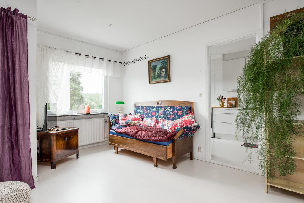 Vardagsrum med sovalkov