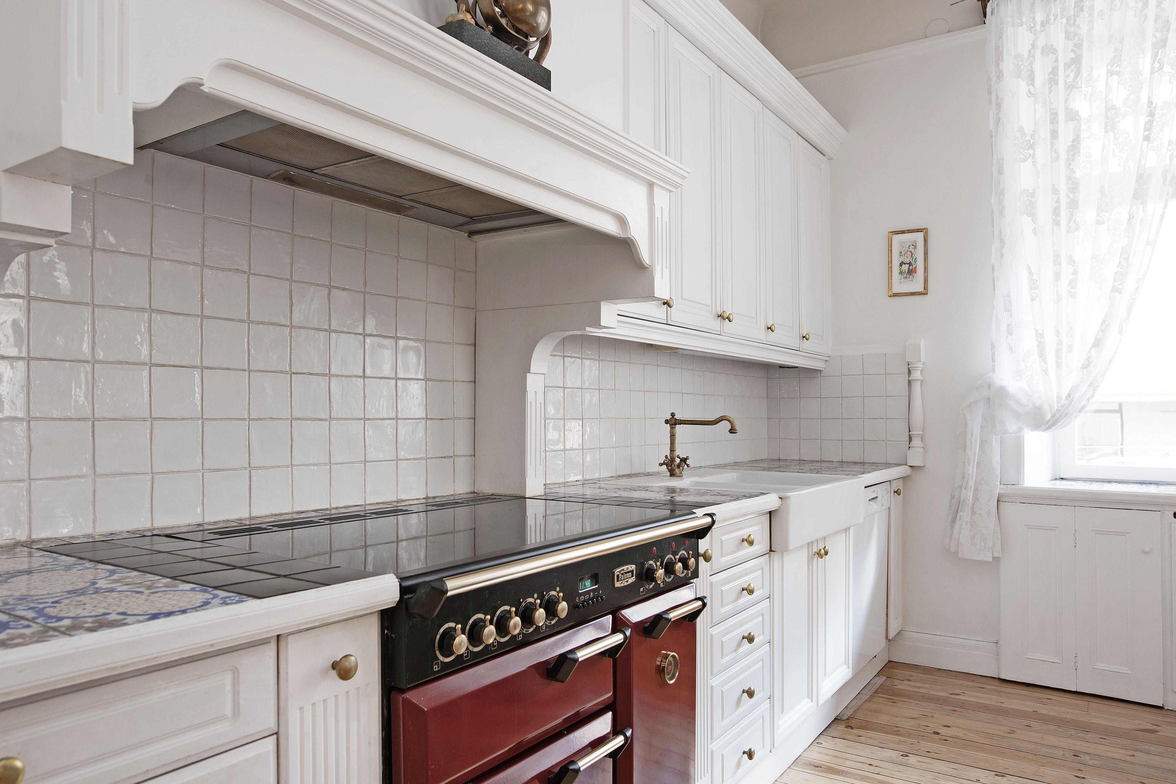Fin skåpinredning i köket
