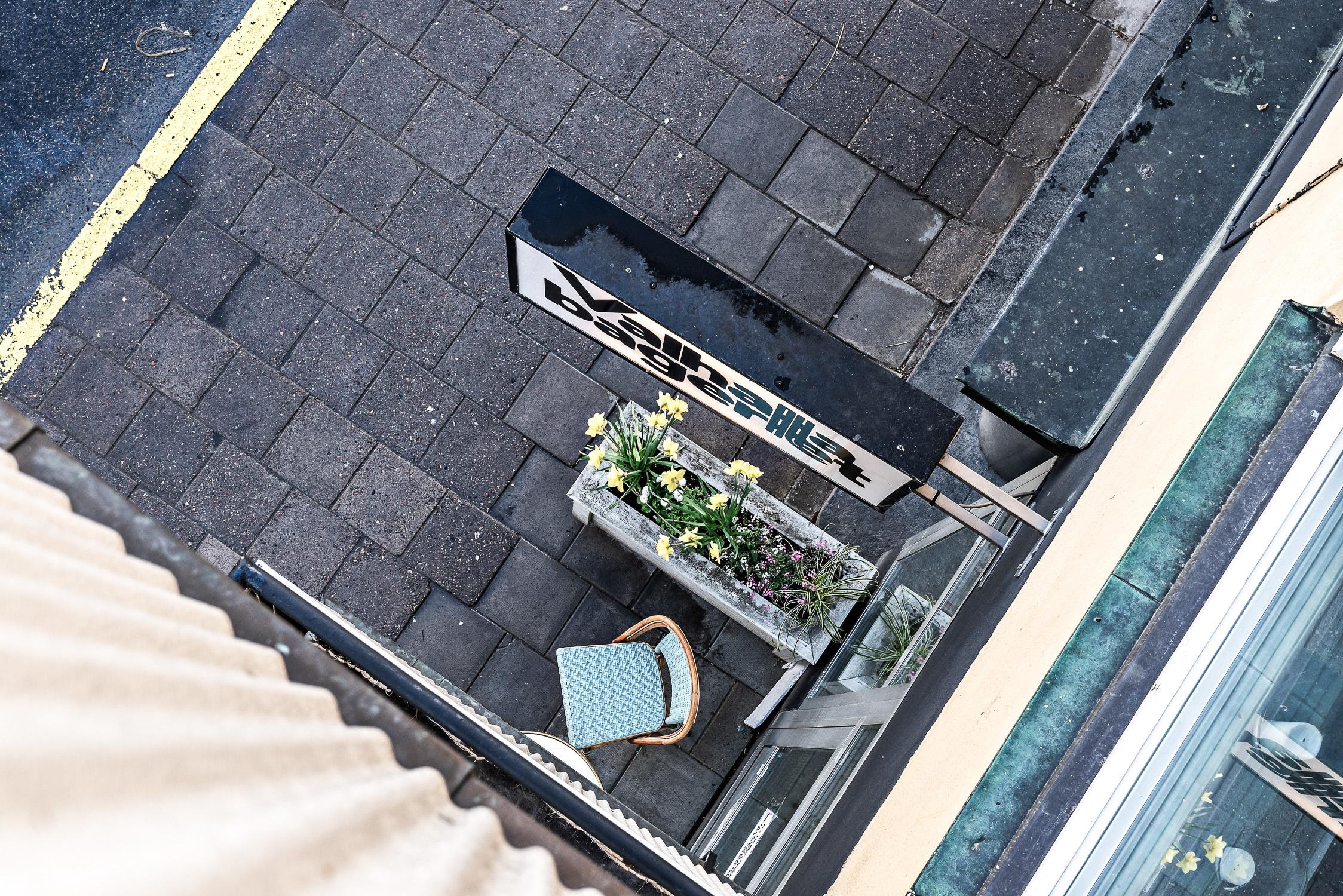Valhallabageri från balkongen