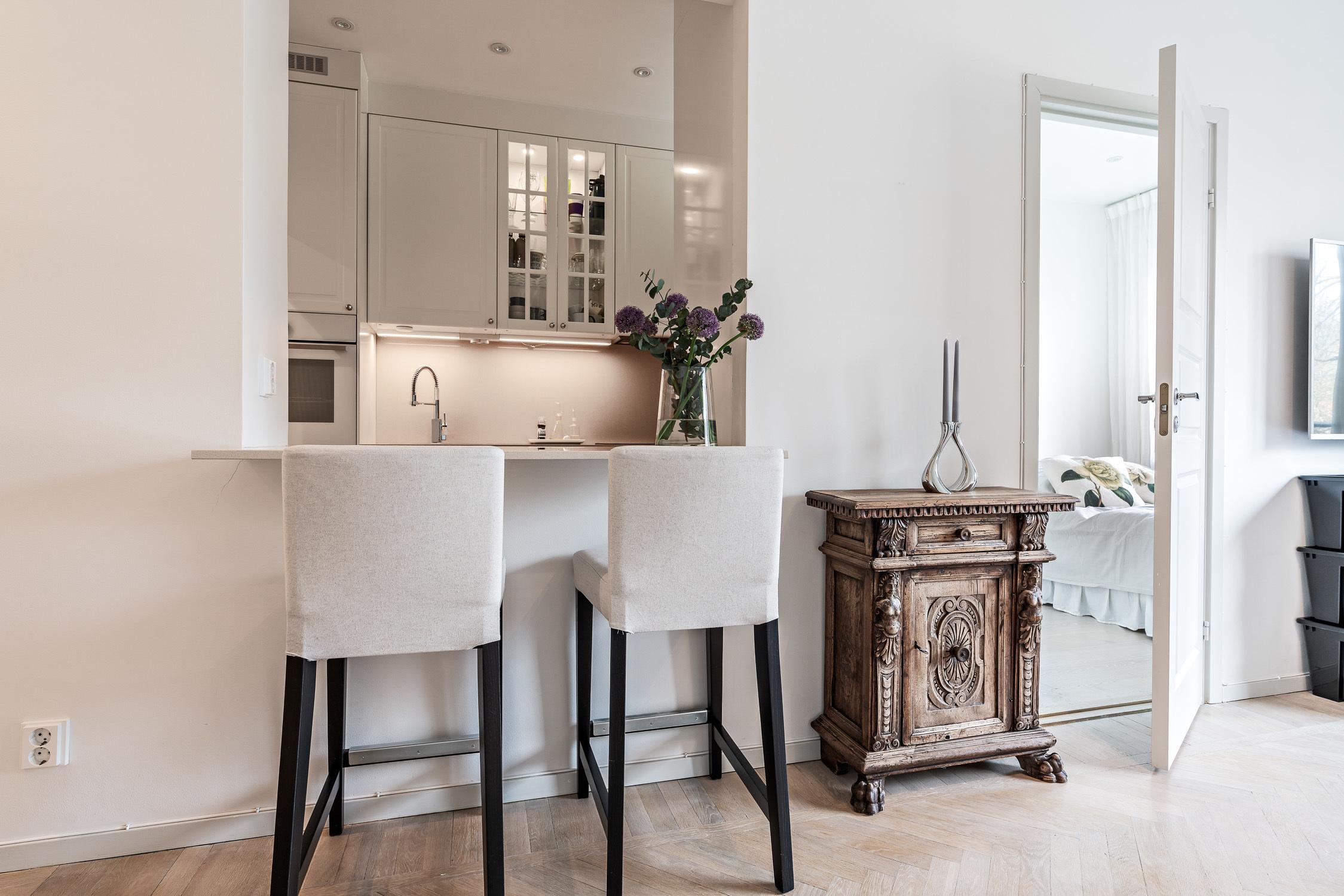 Öppet kök med bardel