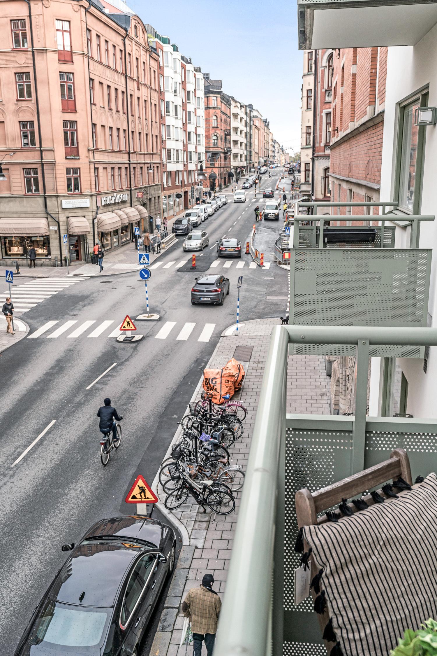 Balkong ut mot Linnégatan